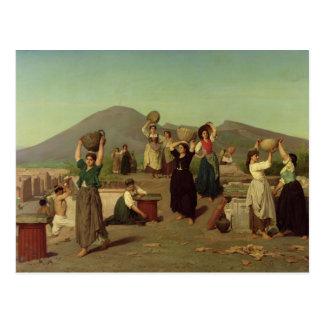 As escavações em Pompeii, 1865 Cartão Postal