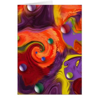 As esferas de roda abstraem o cartão do