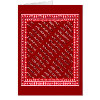 As estrelas brancas no quadro vermelho - adicione cartão comemorativo