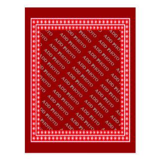 As estrelas brancas no quadro vermelho - adicione cartão postal
