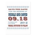 As estrelas da americana que wedding o anúncio cartão postal