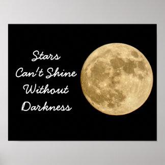 As estrelas não podem brilhar -- Impressão da arte