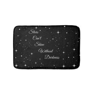 As estrelas não podem brilhar sem escuridão tapete de banheiro