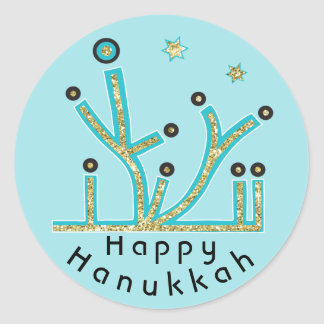 "As etiquetas ""azul de Hanukkah iluminam Latkes"