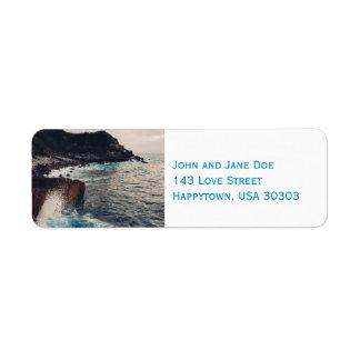 As etiquetas de endereço do remetente da borda do