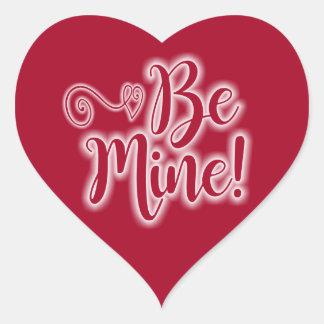 As etiquetas do coração do dia dos namorados sejam