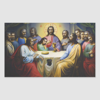 As etiquetas do Jesus Cristo da última ceia
