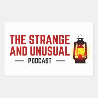 As etiquetas estranhas e incomuns do Podcast Adesivo Retangular