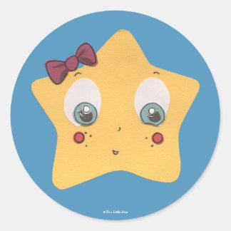 As etiquetas pequenas da estrela adesivo