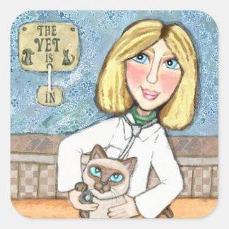 As etiquetas veterinárias felizes do amante do