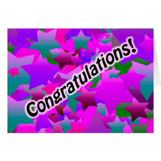 As felicitações Stars o roxo Cartão Comemorativo