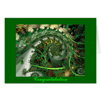 As felicitações, verde do fractal deixam o cartão