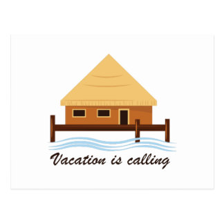 As férias estão chamando cartão postal