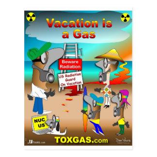 As férias são um gás cartão postal