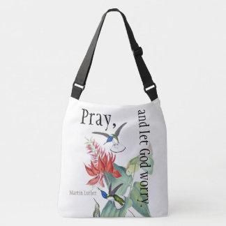 As flores do pássaro do colibri Pray o bolsa da