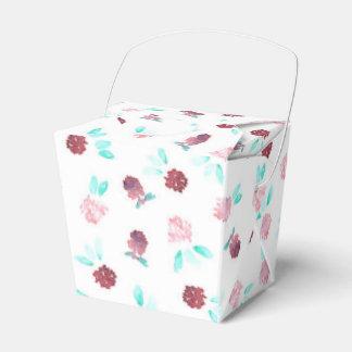 As flores do trevo removem a caixa do favor