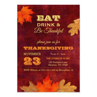 As folhas de outono comem a bebida e sejam convite