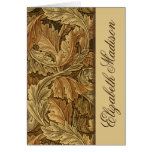 As folhas de William Morris Brown personalizaram o Cartoes