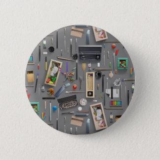 As fontes do artista bóton redondo 5.08cm