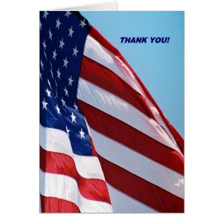As forças armadas agradecem-lhe cartão