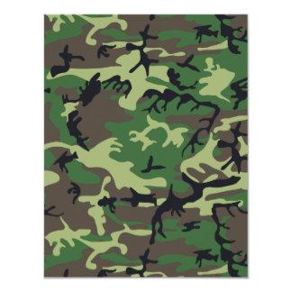 As forças armadas camuflam convite 10.79 x 13.97cm