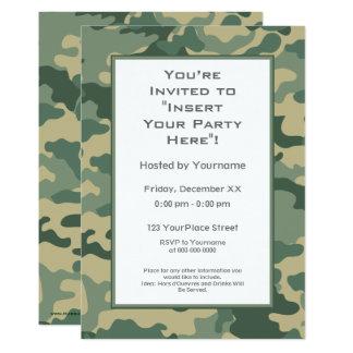 As forças armadas camuflam o partido convite 12.7 x 17.78cm