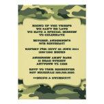 As forças armadas do exército camuflam a festa de  convite personalizados