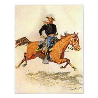As forças armadas do vintage, uma cavalaria convite 10.79 x 13.97cm
