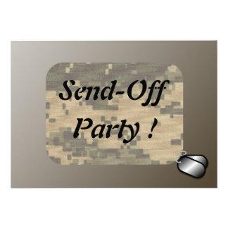 As forças armadas enviam fora do partido