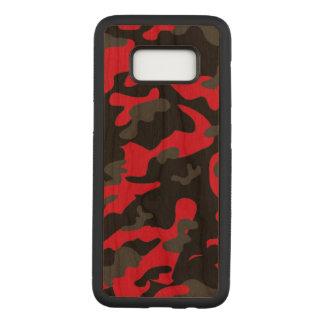 As forças armadas pretas vermelhas do exército de capa carved para samsung galaxy s8