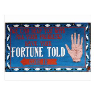 As fortunas disseram cartão postal