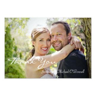 As fotos do casamento agradecem-lhe o cartão 3,5 x convite 8.89 x 12.7cm