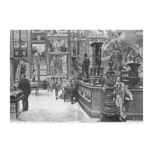 As galerias retrospectivas estrangeiras impressão de canvas esticadas
