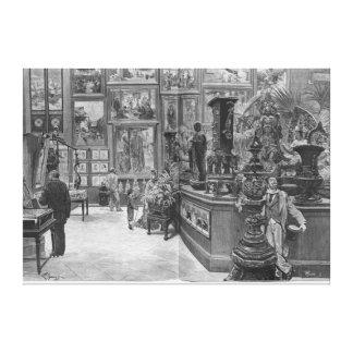 As galerias retrospectivas estrangeiras impressão em tela