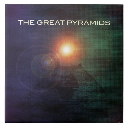 As grandes pirâmides azulejo de cerâmica