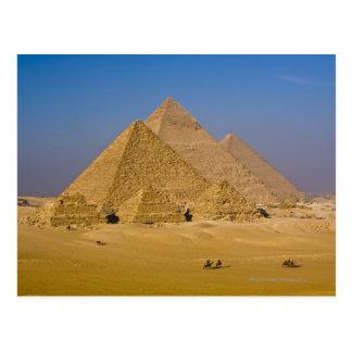As grandes pirâmides de Giza, Egipto Cartão Postal