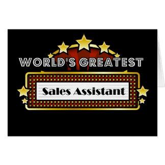 As grandes vendas do mundo assistentes cartão comemorativo