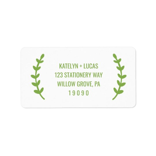 As hortaliças chiques envolvem o casamento etiqueta de endereço
