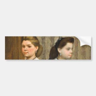 As irmãs de Bellelli por Edgar Degas Adesivo
