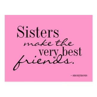 As irmãs fazem os melhores amigos - cartão