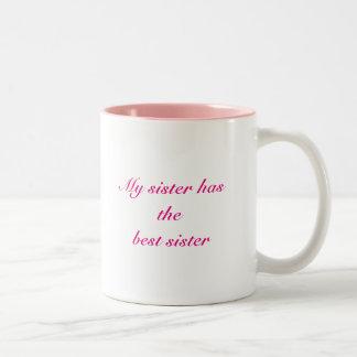 As irmãs são o melhor presente de TUDO Caneca Dois Tons