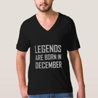 As legendas são nascidas em dezembro camiseta