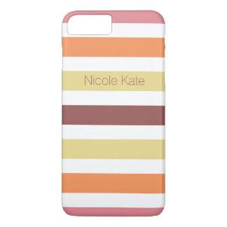 as listras aquecem o marsala das cores capa iPhone 7 plus