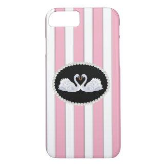 As listras & as cisnes telefonam & o caso capa iPhone 7