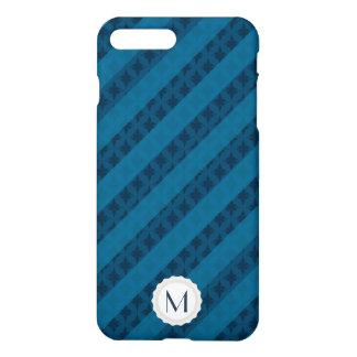 As listras azuis corajosas personalizaram o capa iPhone 7 plus