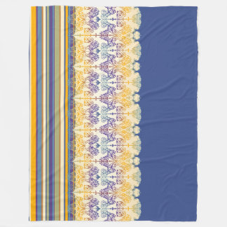 As listras do damasco do vintage coloriram II + Cobertor De Lã
