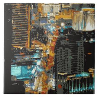 As luzes apressando-se da tira de Las Vegas Azulejos