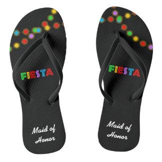 As luzes da festa personalizaram chinelos