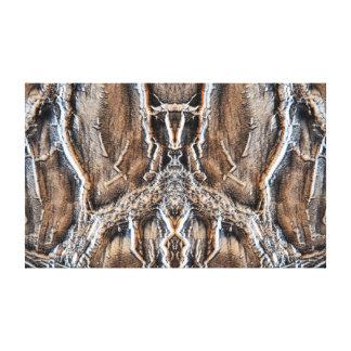 As madeiras impressão em tela