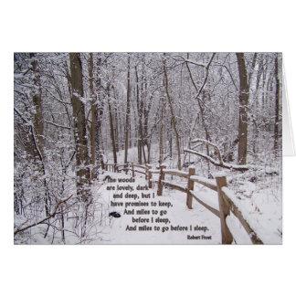 """""""As madeiras são"""" design de cartão bonito do"""